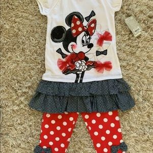 Girls' DISNEY STORE Minnie Mouse Outfit - Sz 5/6